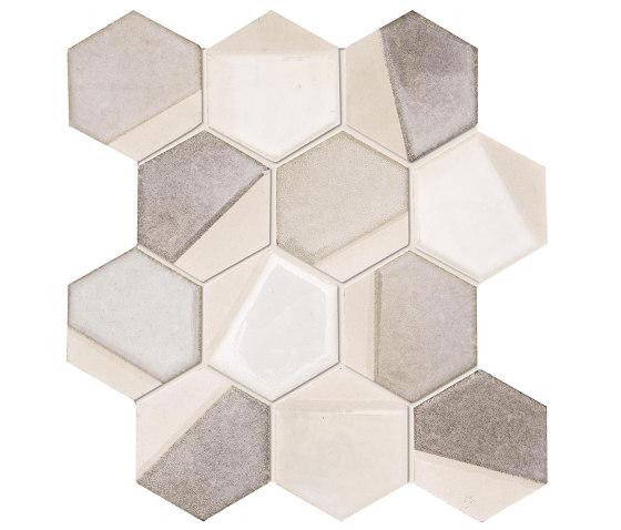 Art Mos. Esagona Dek.Sand de Ceramiche Supergres | Mosaïques céramique