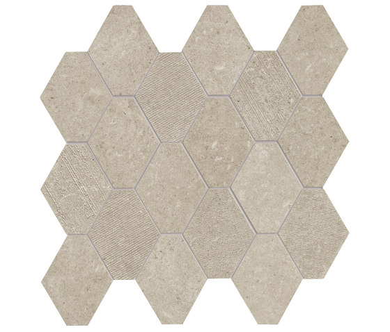 Epika Almond Mosaico Losanga Dek de Ceramiche Supergres | Mosaicos de cerámica