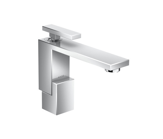 AXOR Edge | Single lever basin mixer 130 with push-open waste set by AXOR | Wash basin taps