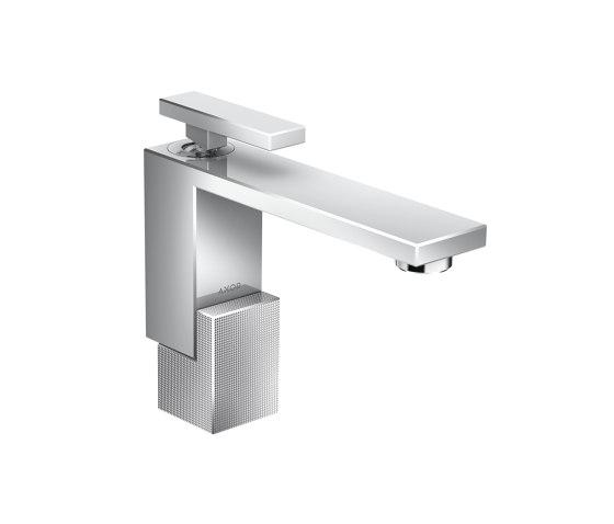 AXOR Edge | Single lever basin mixer 130 with push-open waste set - diamond cut by AXOR | Wash basin taps