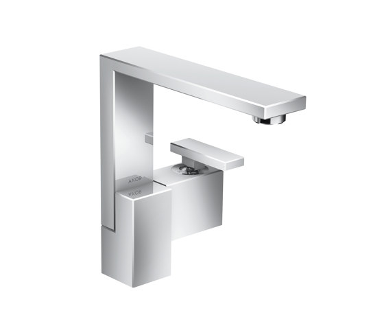 AXOR Edge | Single lever basin mixer 190 with push-open waste set by AXOR | Wash basin taps
