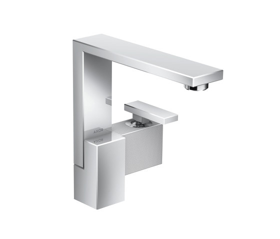AXOR Edge | Single lever basin mixer 190 with push-open waste set - diamond cut by AXOR | Wash basin taps