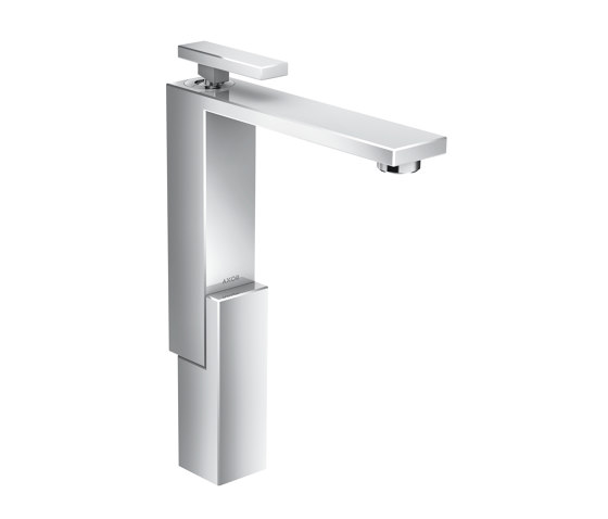 AXOR Edge | Single lever basin mixer 280 with push-open waste set by AXOR | Wash basin taps