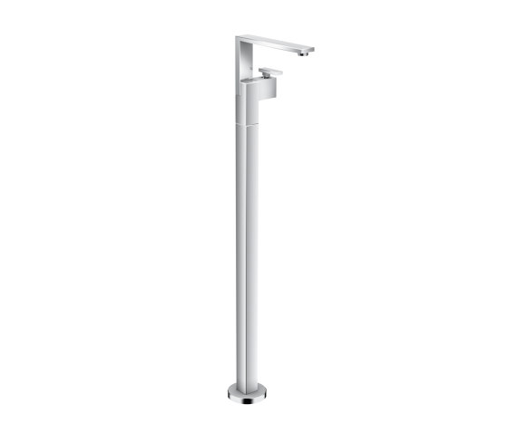 AXOR Edge | Single lever basin mixer floor-standing with push-open waste set by AXOR | Bath taps