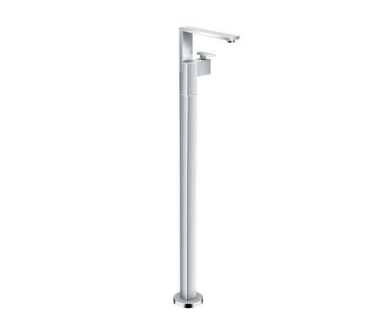 AXOR Edge | Single lever basin mixer floor-standing with push-open waste set - diamond cut by AXOR | Bath taps