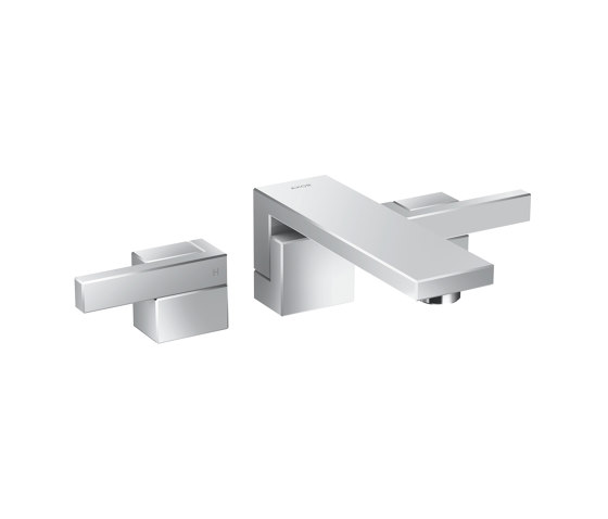AXOR Edge | 3-hole basin mixer for concealed installation wall-mounted by AXOR | Wash basin taps