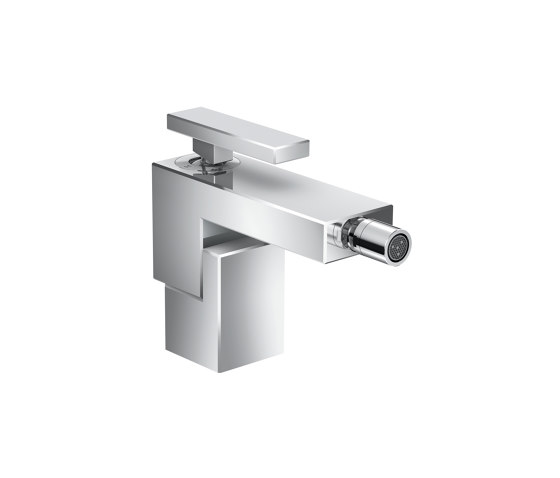AXOR Edge | Single lever bidet mixer with push-open waste set by AXOR | Wash basin taps