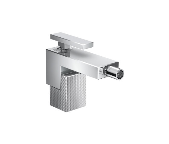 AXOR Edge | Single lever bidet mixer with push-open waste set - diamond cut by AXOR | Wash basin taps
