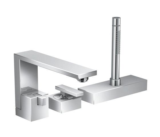 AXOR Edge   3-hole rim mounted single lever bath mixer de AXOR   Grifería para lavabos