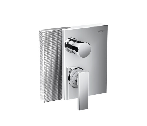 AXOR Edge | Single lever bath mixer for concealed installation with integrated security combination according to EN1717 - diamond cut by AXOR | Shower controls