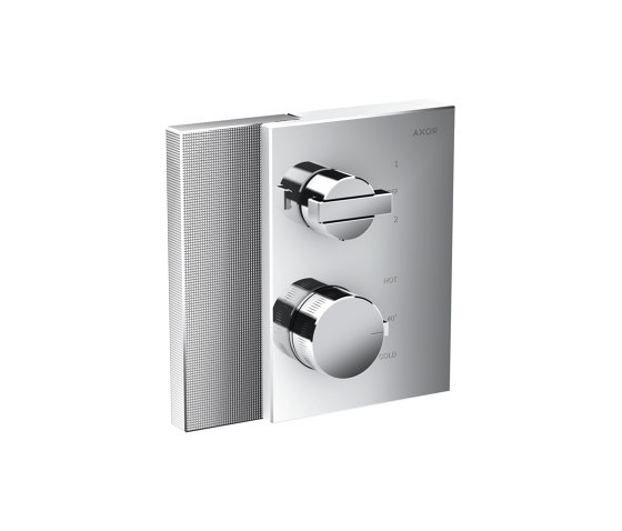 AXOR Edge | Thermostat with shut-off valve/diventer valve for concealed installation - diamond cut by AXOR | Shower controls