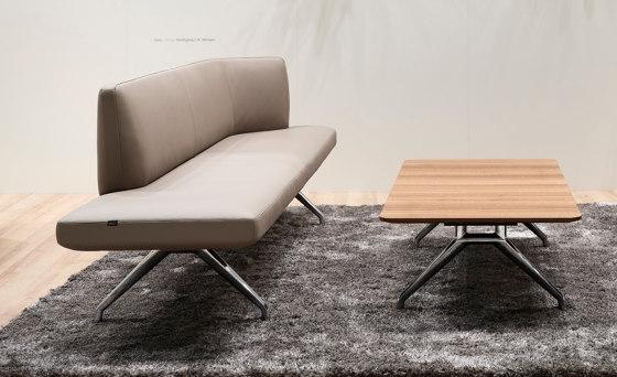 Insit upholstered bench with backrest di Wilkhahn | Divani