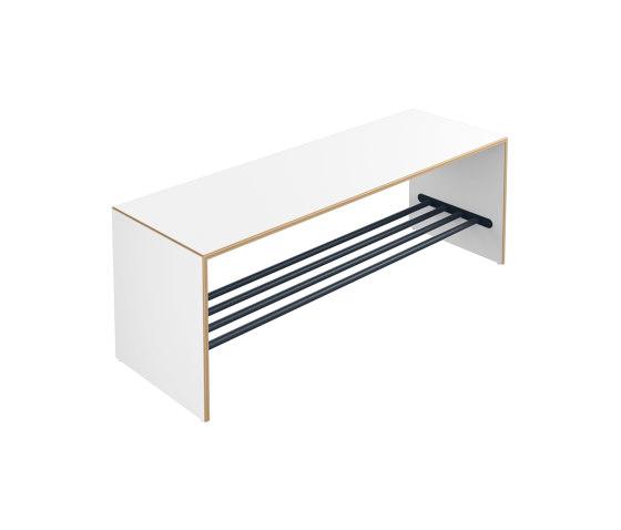Bench with shoe rack | M20.05.003 di HEWI | Panche infanzia