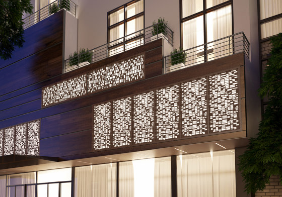 Exterior Applications - Laimstone Laser Cut Wall by Moz Designs | Metal sheets