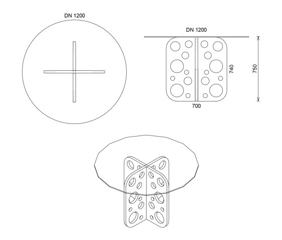 Tabula Perforare de CO33 by Gregor Uhlmann | Mesas comedor