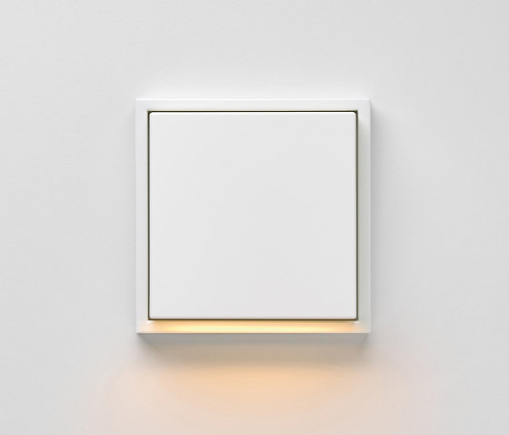 Plug & Light | LS 990 LED-Wall luminaire white by JUNG | Wall lights