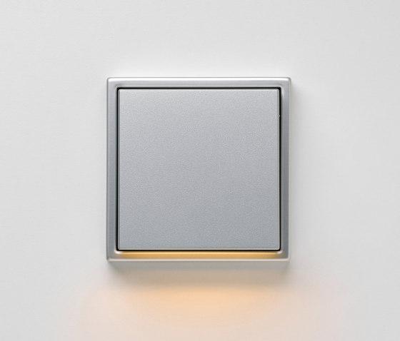 Plug & Light | LS 990 LED-Wall luminaire aluminium by JUNG | Wall lights