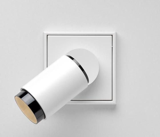 Plug & Light   LS 990 LED Spotlight white by JUNG   Wall lights