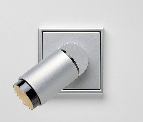 Plug & Light | LS 990 LED Spotlight aluminium by JUNG | Wall lights