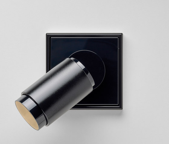 Plug & Light | LS 990 LED Spotlight black by JUNG | Wall lights