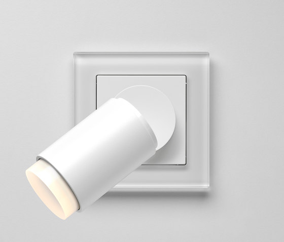 Plug & Light | A creation LED Spotlight soft white glass by JUNG | Wall lights