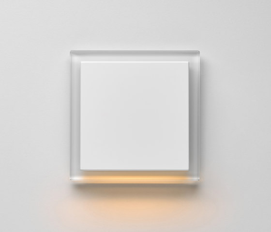 Plug & Light | A creation LED-Wall luminaire white glass by JUNG | Wall lights