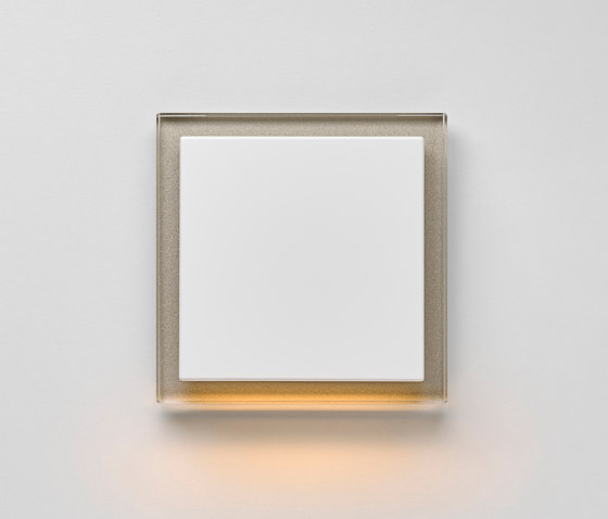 Plug & Light | A creation LED-Wall luminaire champagne glass by JUNG | Wall lights