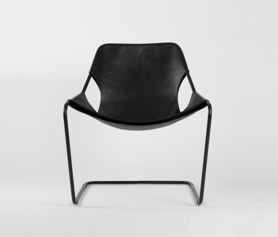 Paulistano Leather - Black/Black by Objekto | Armchairs