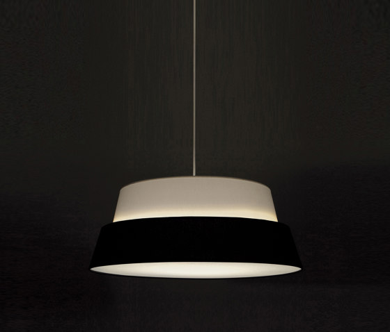 Photo Lampshade - White/Black by Objekto | Suspended lights