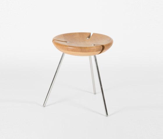 Tribo - 45cm/Inox by Objekto | Stools