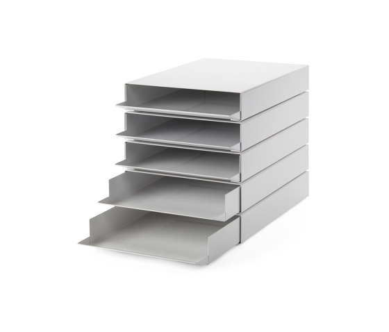Stapler | File Tray Stack, signal white RAL 9003 by Magazin® | Desk tidies