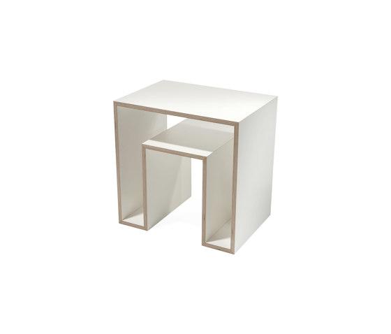Echo | Side Table, white de Magazin® | Mesas auxiliares
