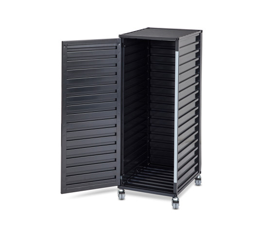 Container DS Plus, black grey RAL 7021 by Magazin® | Pedestals