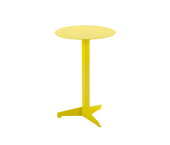 Bistro Table Construct, sulfur yellow RAL 1016 de Magazin®   Tables d'appoint