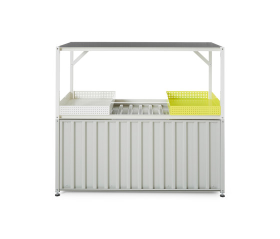 Container DS, pebble grey RAL 7032 by Magazin®   Sideboards