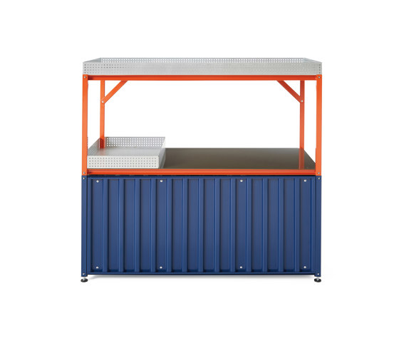 Container DS, saphire blue RAL 5003 by Magazin® | Sideboards