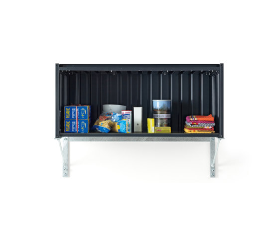 Container DS, black grey RAL 7021 by Magazin® | Sideboards