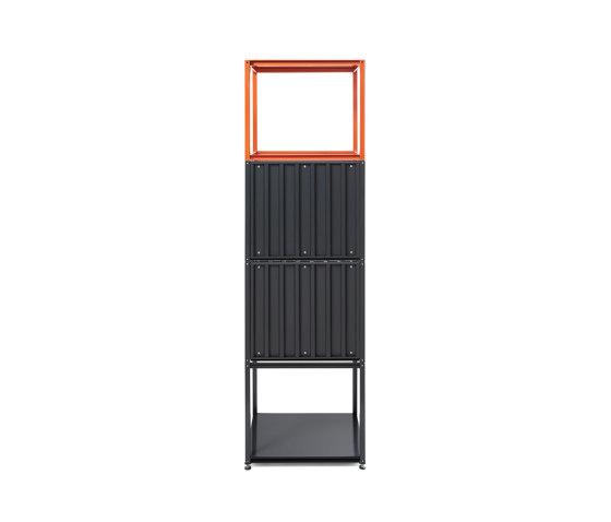 Shelf Tara small, black grey RAL 7021 by Magazin® | Shelving