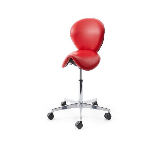 sella | Saddle chair with backrest de lento | Taburetes de oficina