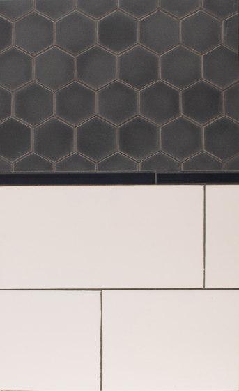 "2"" Hex Portland Field Netted  ½ x 8 Portland Field   5x10 Portland Field de Pratt & Larson Ceramics   Carrelage céramique"