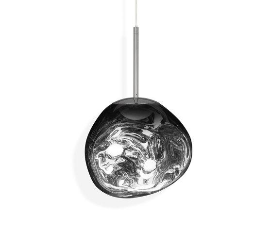 Melt Pendant Mini Chrome LED by Tom Dixon   Suspended lights