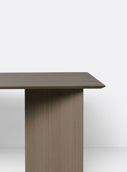 Mingle Table Top 160 cm - Dark Stained Oak Veneer by ferm LIVING | Dining tables