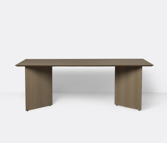 Mingle Table Top 210 cm - Dark Stained Oak Veneer by ferm LIVING | Dining tables