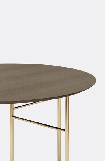 Mingle Table Top Round Ø130 - Dark Stained Oak Veneer by ferm LIVING | Dining tables