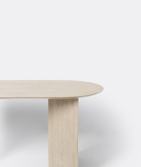 Mingle Table Top Oval 150 cm - Natural Oak Veneer by ferm LIVING | Dining tables