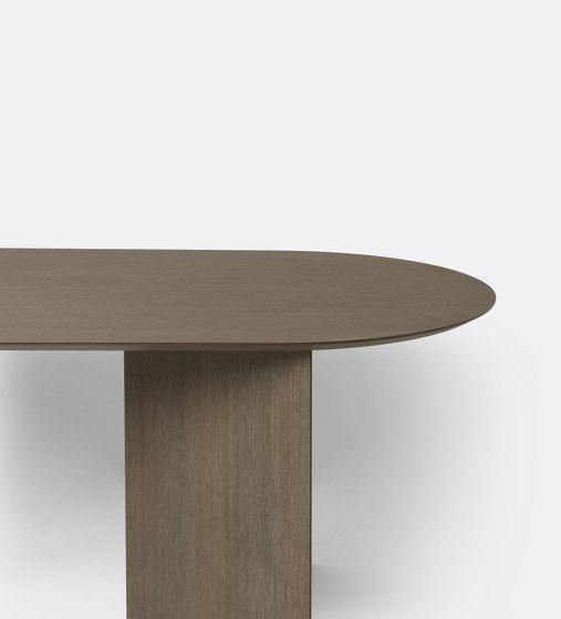 Mingle Table Top Oval 220 cm - Dark Stained Oak Veneer by ferm LIVING   Dining tables