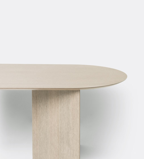 Mingle Table Top Oval 220 cm - Natural Oak Veneer by ferm LIVING | Dining tables