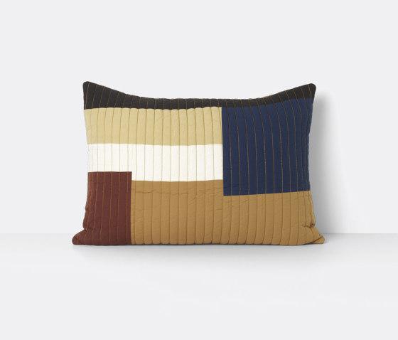 Shay Quilt Cushion 60 x 40 - Mustard de ferm LIVING | Coussins