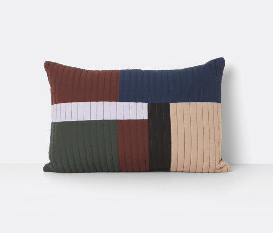 Shay Quilt Cushion 60 x 40 - Cinnamon de ferm LIVING | Coussins