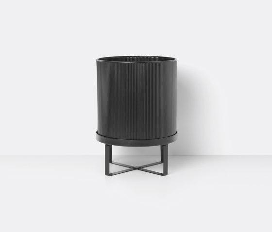 Bau Pot - Large - Black de ferm LIVING | Pots de fleurs